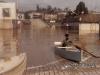 Enchente de 1983, ao fundo a antiga Delegacia de Polícia de Rio Negro