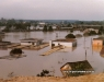 Enchente de 1983, ao fundo a Oficina da antiga Rede Ferroviaria