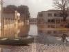 Enchente de 1983, ao fundo o Clube Rionegrense e a Antiga Maternidade de Rio Negro