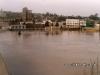 Enchente de 1983, ao fundo o Hotel Rio Negro