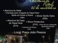 Programação do Natal em Rio Negro 2015
